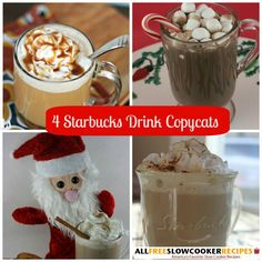 DIY Starbucks: 4 Copycat Starbucks Drinks Recipes for Slow Cooker.