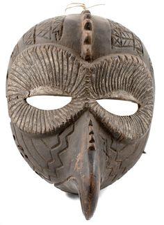 Bird mask Beaked mask African mask | Nigeria | African Tribal Art | Folk Art | Tribe | Tribal Mask | African Tribes | African Mask Art #AfricanMaskArt #AfricanTribes #TribalArt #AfricanTribal #AfricanMask #ethnic #WoodenMask #TribalMask #AfricanArt #africa