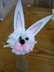 Easter Rabbit Carnation Craft from Making Learning Fun