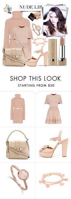 """The Perfect Nude Lip!!"" by stylediva20 on Polyvore featuring Valentino, Alexander McQueen, Roger Vivier, Monica Vinader and Shashi"