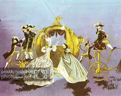 """Illustration by Janet and Anne Grahame Johnstone for """"Cinderella"""", from 'A Book of Fairy Tales', published by Dean Son Ltd. Fairytale Fantasies, Fairytale Art, Cinderella Art, Fairy Godmother, Children's Book Illustration, Grimm, Oeuvre D'art, Les Oeuvres, Book Art"""