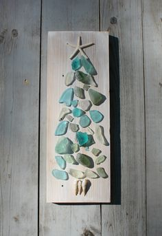 Seaglass Art/Coastal Living Holiday by MyHoneypickles on Etsy