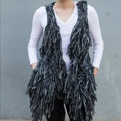 Shag Fur Vest Jacket Coat Thick Cozy Soft Winter Shag Fur Vest. Thick faux fur vest in gray. Something extra to layer in. #NEW with tags. Size is open and fits most but labeled a M.   #fur #fauxfur #vest #style #fashion #coat #unisex Rue 21 Jackets & Coats Vests