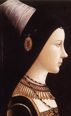 (detail) Mary of Burgundy, daughter of Charles the Bold - c. 1490 by Michael Pacher (Austrian, c. 1435—August 1498)