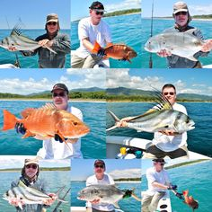 Day 3 for Rev, David & Nick from England aboard GOOD DAY fishing in Quepos Costa Rica. 3 Roosters, 3 Jacks & a Stunning Pacífic Red Snapper which we tagged & released for Gray FishTag Research Quepos, Red Snapper, Sport Fishing, Roosters, Good Day, Costa Rica, England, David, Gray