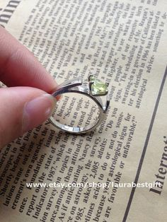ONCE UPON A TIME jewelry  Emma ring Peridot by laurabestgift, $3.69