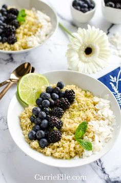 21 Day Fix Instant Pot Breakfast Quinoa - Carrie Elle Beef Recipes, Whole Food Recipes, Healthy Recipes, Healthy Appetizers, Yummy Recipes, Quinoa Breakfast, Breakfast Recipes, Breakfast Ideas, Healthy Pulled Pork