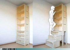 bookcase step stool