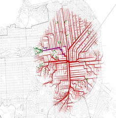 the lifeline of san francisco :: http://shortestpathtree.org using OSM data