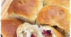 クリームチーズの濃厚さとクランベリーの甘酸っぱさ、くるみの食感の組み合わせが美味しいパンです。