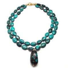 Bold Turquoise Necklace | Only available at Peyton William. www.peytonwilliam.com
