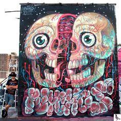 Work by @nychos in New York City, NY. street art graffiti