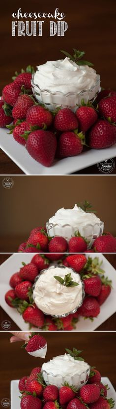 This easy to make smooth and creamy Cheesecake Fruit Dip has just enough sweet and has a secret ingredient that will have everyone begging for more. by lucia Salsa Aux Fruits, Fruit Salsa, Fruit Recipes, Dessert Recipes, Cooking Recipes, Dessert Dips, Easy Recipes, Dip Recipes, Popular Recipes