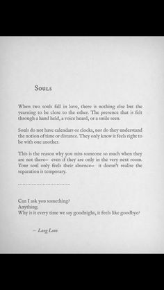 Soulmate and Love Quotes : QUOTATION – Image : Quotes Of the day – Description Lang Leav Sharing is Power – Don't forget to share this quote ! Great Quotes, Quotes To Live By, Me Quotes, Inspirational Quotes, Soul Mate Quotes, Super Quotes, Love Quotes For Him, Love Soul Quotes, Wrong Love Quotes