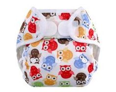 Blueberry diaper cover on owl print. Prefold Diapers, Cloth Diapers, Cloth Diaper Covers, Disposable Diapers, Owl Print, Baby Booties, Baby Sewing, Baby Gear, Future Baby