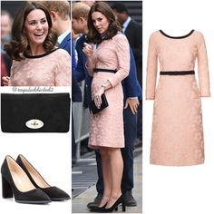 """1,947 Likes, 28 Comments - Royal Addicted (@royaladdicted2) on Instagram: """"Duchess of Cambridge Style! Dress: Orla Kiely; Shoes: Tod's; Clutch: Mulberry; Jewels: Kiki…"""""""