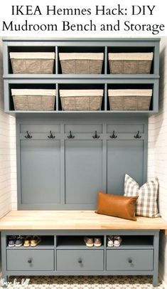 mudroom bench ikea hack and storage shoe