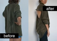 Get out your scissors and turn your t-shirt into a work of art with these cut up t-shirt tutorials! Diy Clothes Rack Pipe, Diy Clothes Hangers, Diy Clothes Storage, Diy Clothes And Shoes, Diy Clothes Refashion, Diy Clothes Videos, Shirt Refashion, T Shirt Diy, Cut Up T Shirt