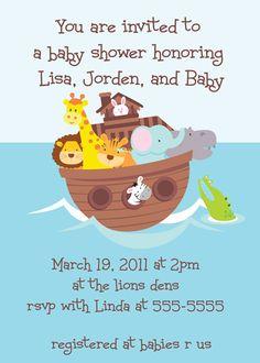 Noah Ark Baby Shower Invitation