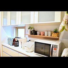 見せる収納/キッチン/コーヒーミル/KARITA/コーヒーのある暮らし...などのインテリア実例 - 2019-12-11 11:01:45 | RoomClip(ルームクリップ) Kitchen Appliances, Nitori, Storage, Furniture, Home Decor, Diy Kitchen Appliances, Purse Storage, Home Appliances, Decoration Home