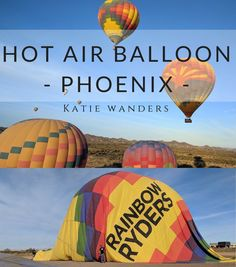 A post all about hot air ballooning in Phoenix with Rainbow Ryders!  Sunrise over the desert and mimosa breakfast!