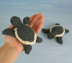 Baby Sea Turtle Collection amigurumi crochet pattern by PlanetJune Cute Crochet, Beautiful Crochet, Crochet Crafts, Yarn Crafts, Crochet Baby, Crochet Projects, Knit Crochet, Crotchet, Crochet Patterns Amigurumi