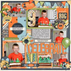 Used the following from the Sweet Shoppe: Cindy's Templates - Themed: Birthday 1 by Cindy Schneider  My Guy by Digilicious Designs and Meg Mullens Little Sew & Sew Alpha V6 by Erica Zane Some Elements from Cake Smash: Boy by Studio Flergs and Let's Party by Megan Turnidge (retired)