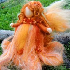 Felted Fairy  Autumn  Needle Felted Wool Angel Waldorf von Nushkie, $44,00