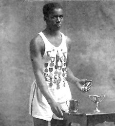 William Dehart Hubbard in April, 1921 (First African American To Win A Gold Medal in the Olympics in 1924)