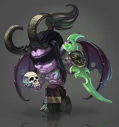Chibi illidan by chenbo Dota Warcraft, Warcraft Art, Warcraft Legion, Blizzard Warcraft, Illidan Stormrage, World Of Warcraft 3, Monster Concept Art, Night Elf, Heroes Of The Storm