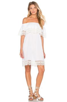 6bf79a42e9ed PILYQ Penelope Off The Shoulder Dress in Water Lily Crochet Revolve Shop