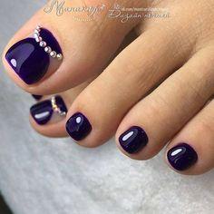 Top 150 Rhinestones nail and Swarovski nail crystals 2018 Toenail Art Designs, Pedicure Designs, Manicure E Pedicure, Pedicures, Pretty Toe Nails, Cute Toe Nails, Fancy Nails, Toe Nail Color, Toe Nail Art