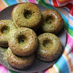 Baked Spelt Flour and Matcha Donuts // A Little Rosemary. Find this #recipe and 30+ more of our favorite Matcha recipes at https://feedfeed.info/matcha?img=164048 #feedfeed