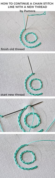 The key to neat chain stitches – circles #embroidery #embroiderytutorial #chainstitch