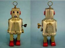 Japanese Mechanical zoomer space SPARKY Robot Tin Toy