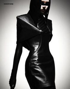 futuristic, cyberpunk, Dark Fashion by Leonardo Wong Pvc Fashion, Dark Fashion, Leather Fashion, Fashion Art, Editorial Fashion, High Fashion, Fashion Beauty, Fashion Design, Fashion Trends