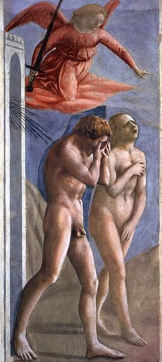 Masaccio, La cacciata dal Paradiso Terrestre. Affresco, 214x90 cm. Firenze, Cappella Brancacci.