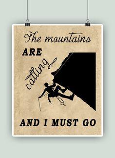 Escalada Art Print la montañas están llamando y por DigitalArtLand