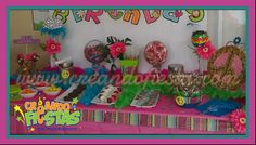 Hippy Chick and Buho Candy Bar by Creando Fiestas (787) 554-5556