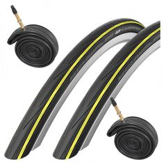 Schwalbe Lugano 700 x 23c Road Bike Tires & Presta Tubes - Yellow. 700 x 23c Road Racing tires. Perfect for training, fitness, touring, commuting, racing, Time Trial and Triathlon. Puncture resistant. Enhanced speed / lower rolling resistance due to the new tread compound and profile. Improved safety over cheaper tires due to wider lateral bands for optimal grip at all angles of lean.