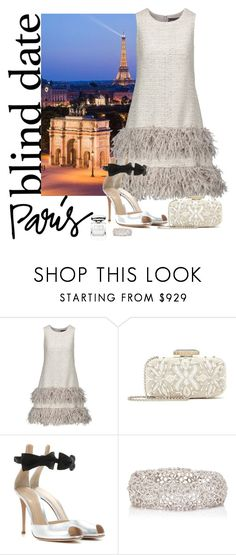 """""""Blind Date Paris"""" by butterflykate88 ❤ liked on Polyvore featuring Lela Rose, Oscar de la Renta, Gianvito Rossi and By Terry"""