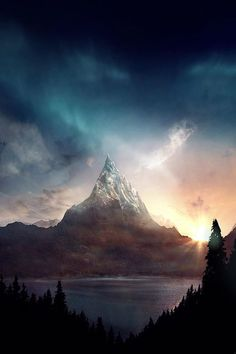 6b. The Lonely Mountain is a empty and majestic place that stands as a lonely peak.