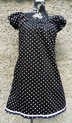 5690539eac0 Tunika Kleid Hänger Punkte schwarz von Zellmann Fashion auf DaWanda.com