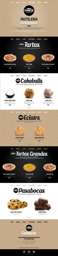 Web Design - Funkie Bakers http://www.behance.net/JuanitaGarcia more on http://themeforest.net/?ref=Vision7Studio