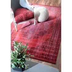 nuLOOM Vintage Inspired Overdyed Rug - Red