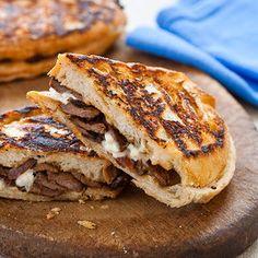 steak and blue cheese panini