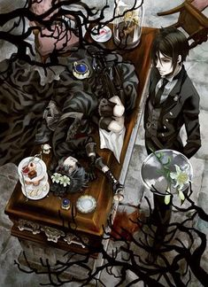 #wattpad #fanfiction You're now in black butler because of a TV God...What could go wrong? By the way, in the story you'd be American. Just for this story okay?  Don't get mad at me!