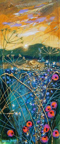 Deborah Phillips_Dipping Sun_Acrylics_13.5x5.25