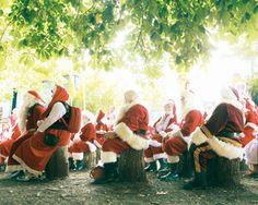 Santa Clauses!!