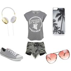 Summer Time by Hailey on Polyvore featuring polyvore fashion style Boohoo Converse Michael Kors Frends Zero Gravity